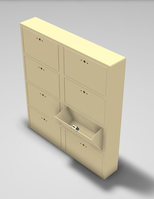 FL-708- Heavy duty Pistol lockers